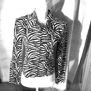 Zebra  striped top